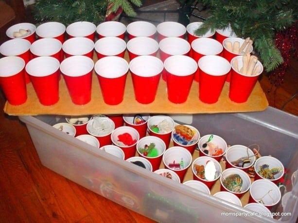 Plastic Cup Ornament Storage