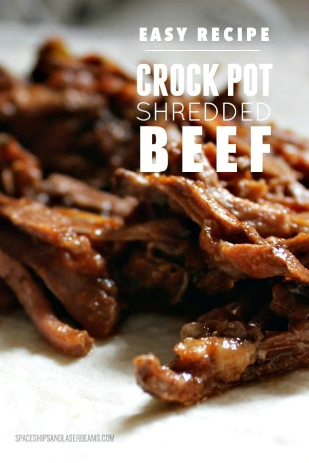 Easy Crockpot Shredded Beef