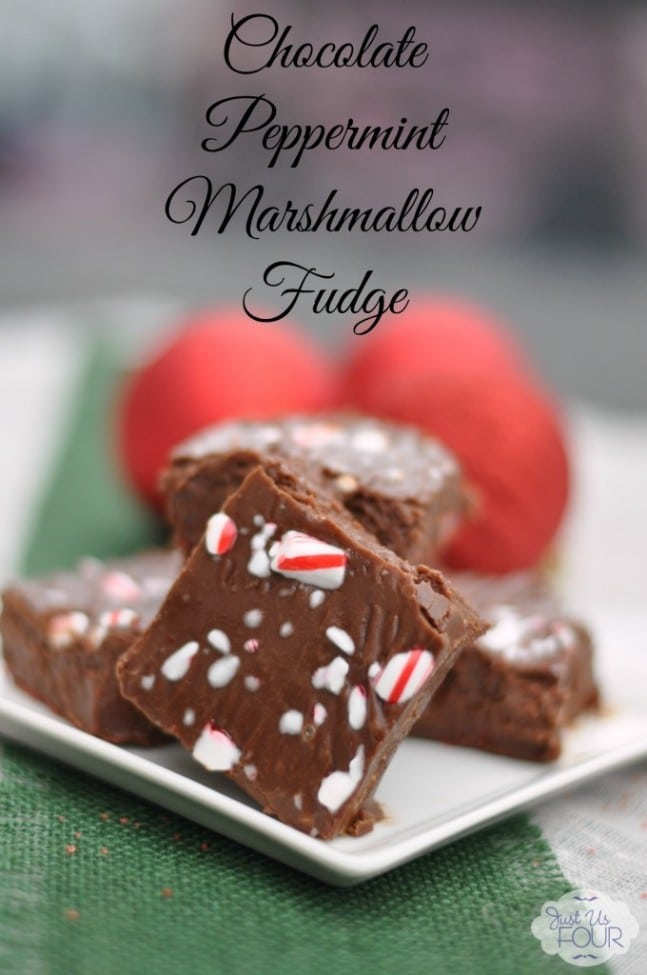 2 Peppermint Marshmallow Fudge