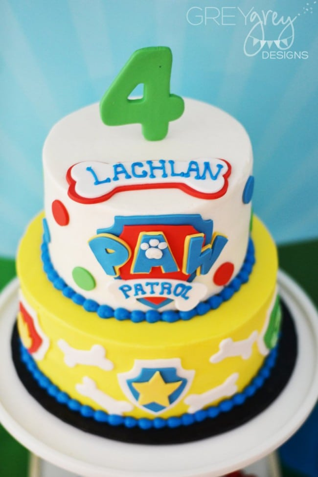 Boy's Paw Patrol Themed Birthday Party