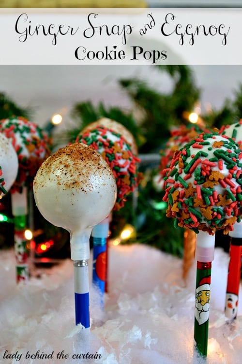 Gingersnap and Eggnog Cookie Pops