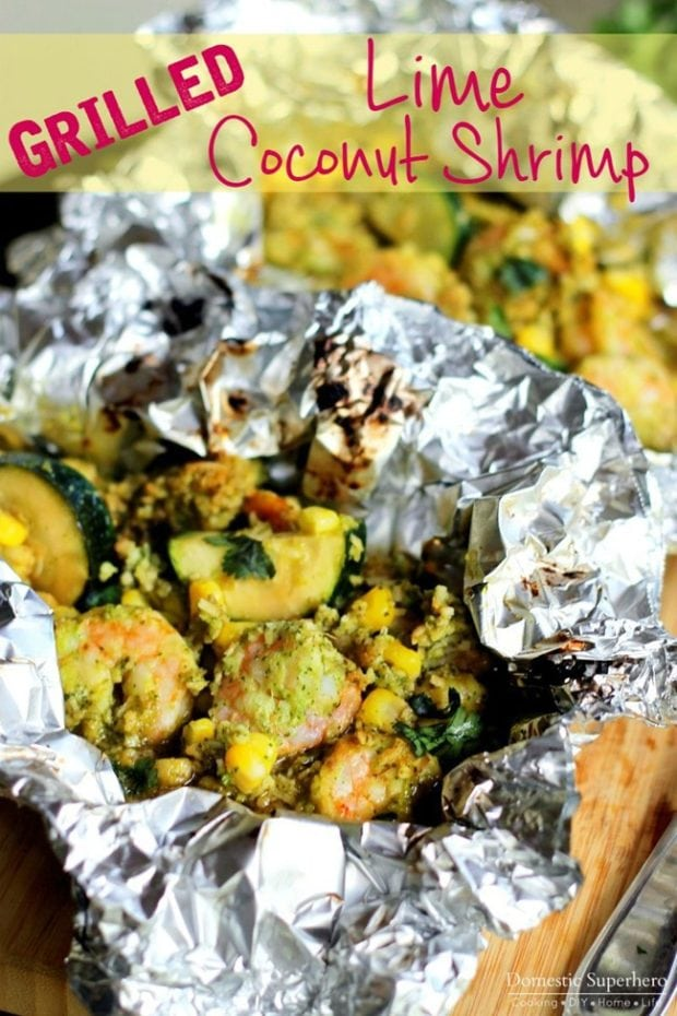 Grilled Lime Coconut Shrimp
