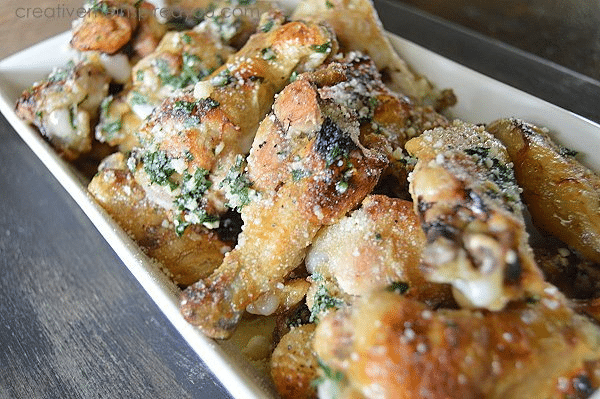 20. Oven Baked Garlic Parmesan Chicken Wings :: Creative Me Inspired ...