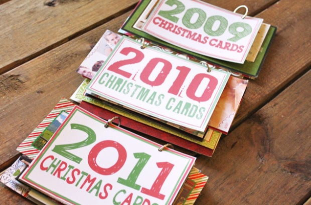 DIY Christmas Card Books