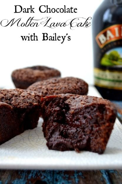 Dark Chocolate Molten Lave Cake with Baileys