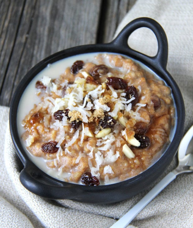 Crock Post Pumpkin Spice Steel Cut Oats