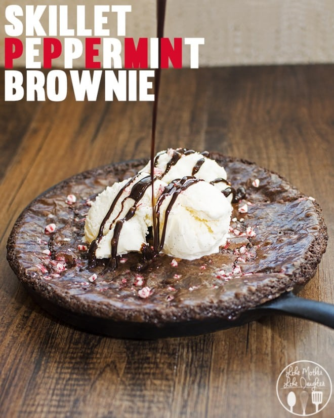 24 Skillet Peppermint Brownie