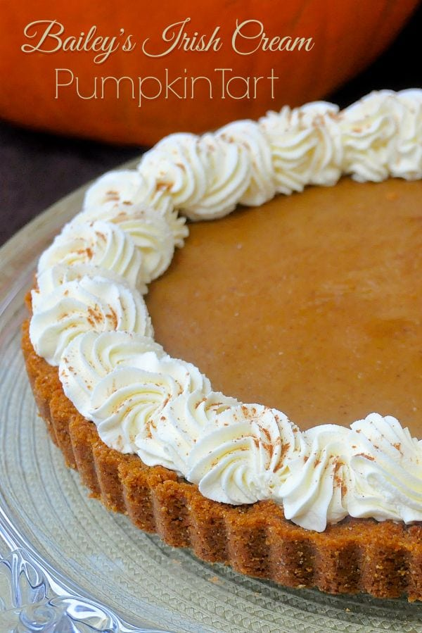 Baileys Irish Cream Pumpkin Tart