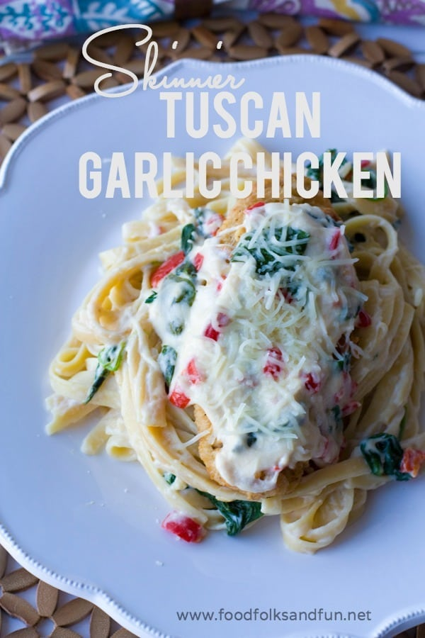 Skinnier Tuscan Garlic Chicken Recipe