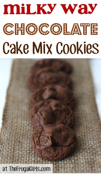 Milky Way Chocolate Cake Mix Cookies