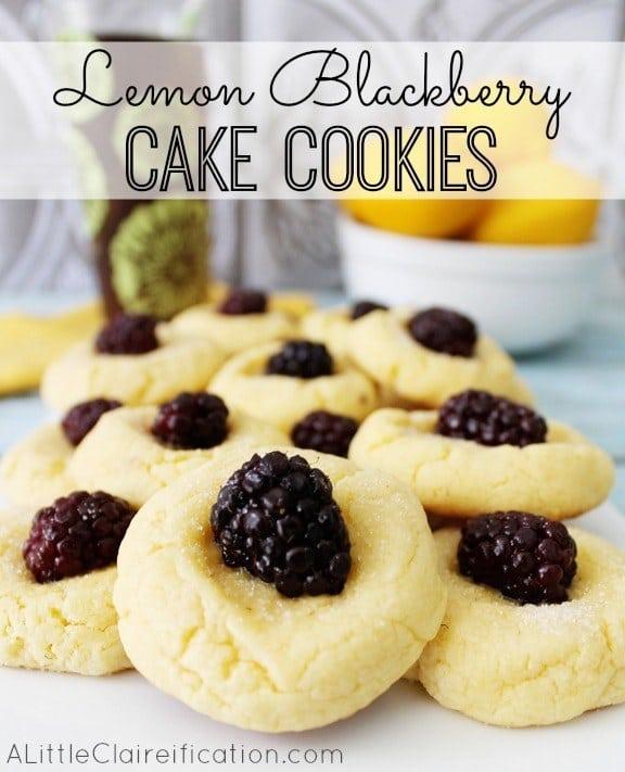 Lemon Blackberry Cake Cookies