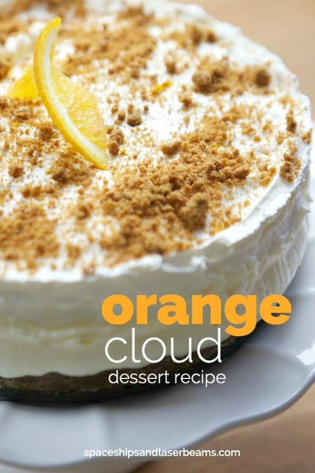 Orange Cloud Dessert Recipe with Gingersnap Crust