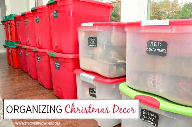 Organizing Christmas Décor
