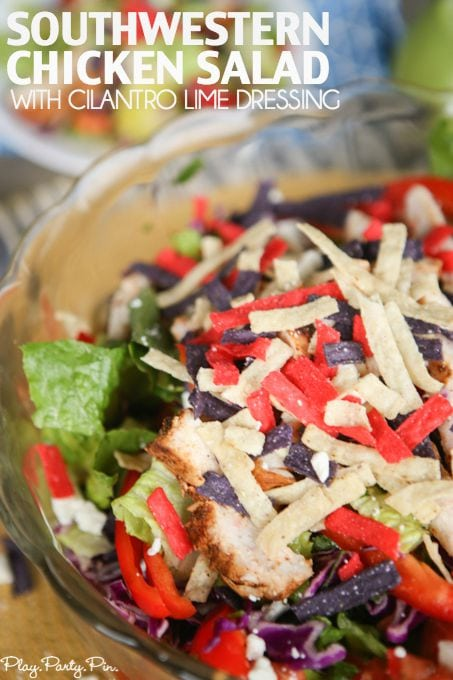 Southwestern Chicken Salad with Cilantro Lime Dressing