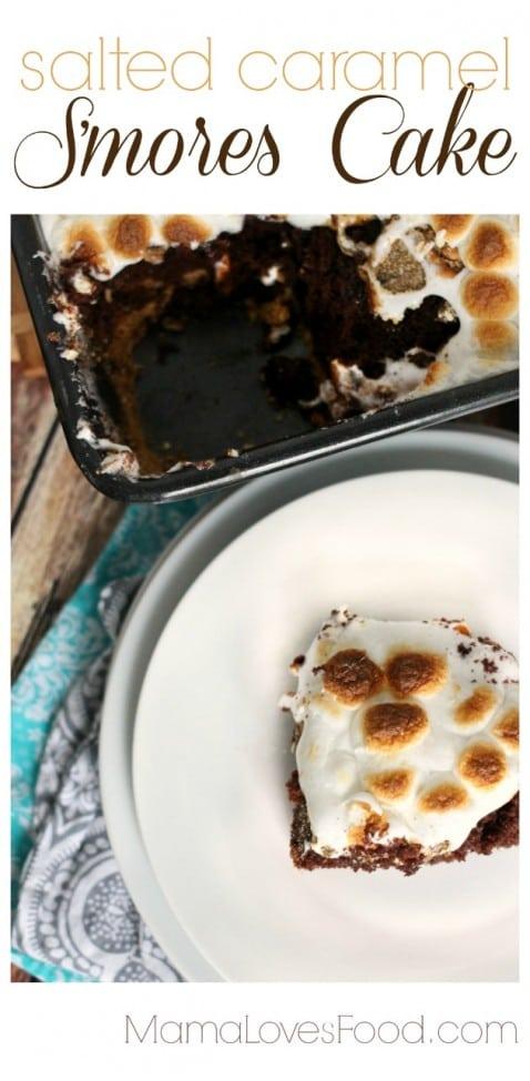 Salted Caramel Smores Cake