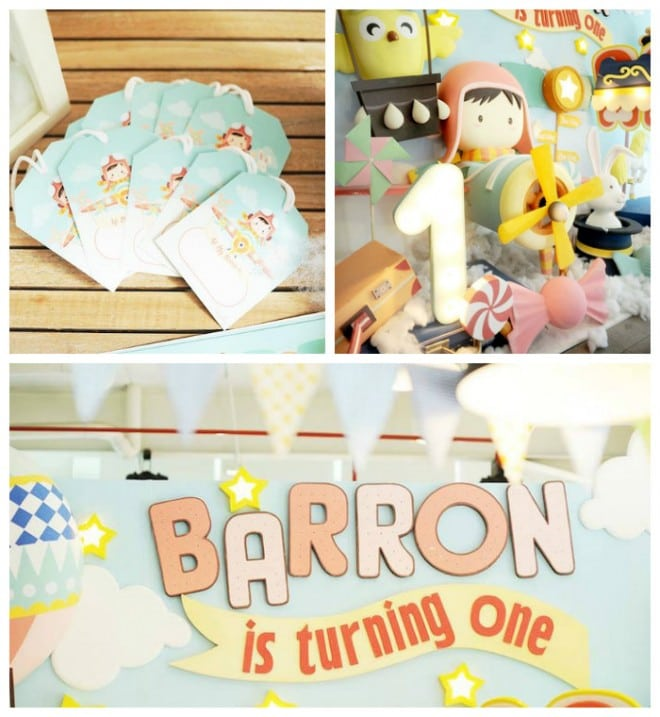 Boy's Airplane Birthday Party Theme
