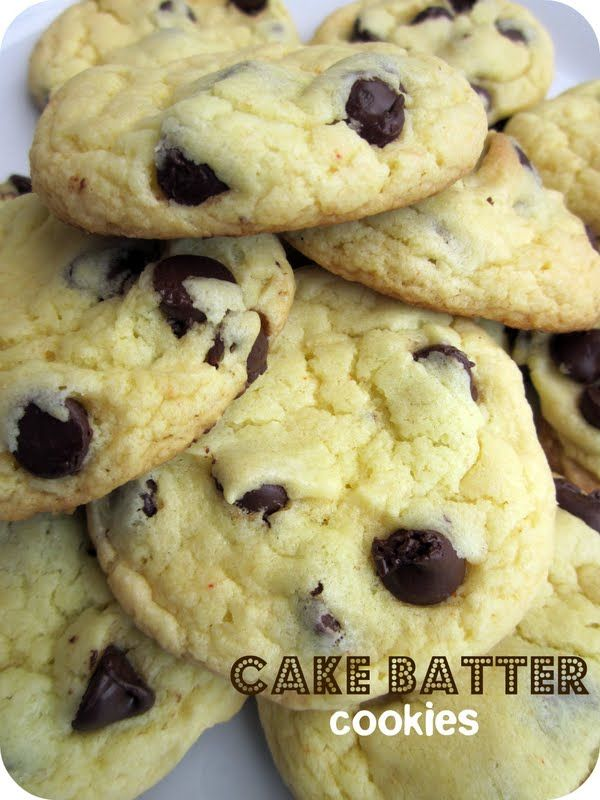 Yellow Cake Batter Chocolate Chip Cookies