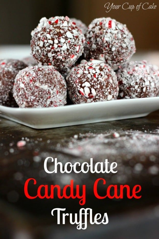 5 Chocolate Candy Cane Truffles
