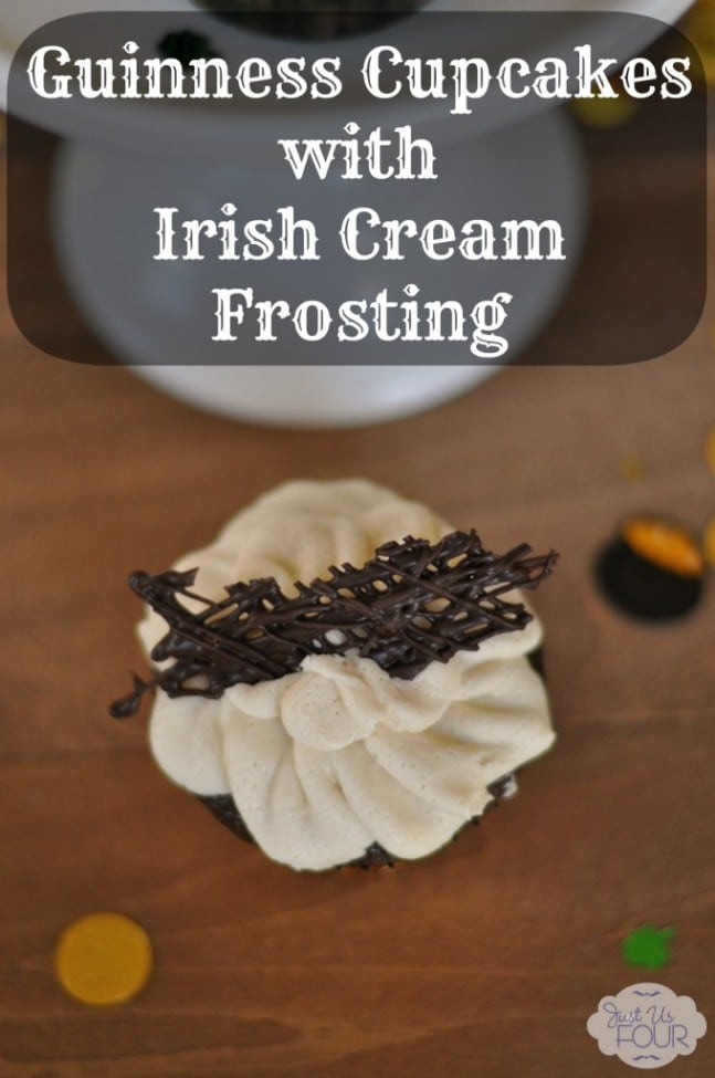 Guiness Cupcakes with Irish Cream Frosting