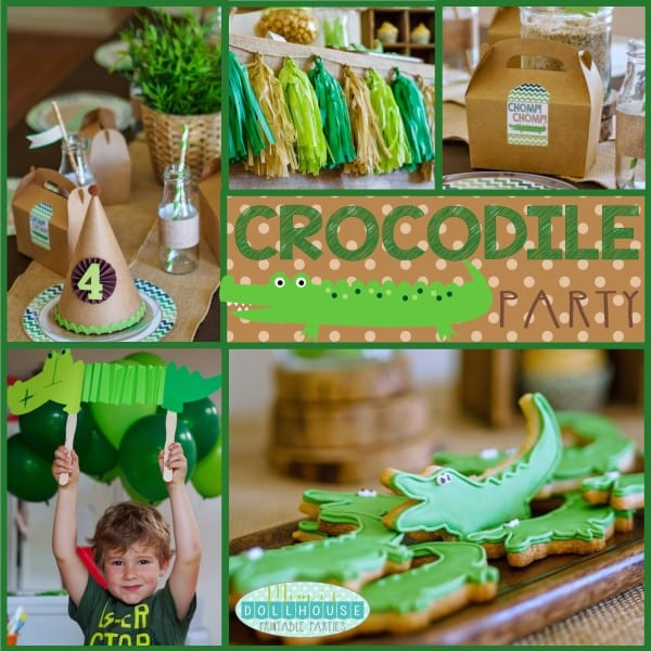 Boy's Crocodile Birthday Party