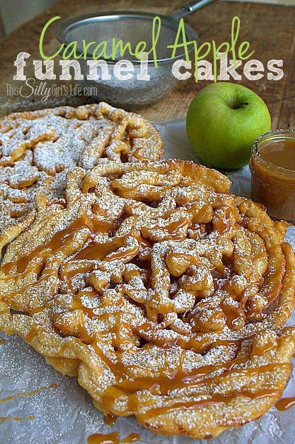 7 Caramel Apple Funnel Cakes