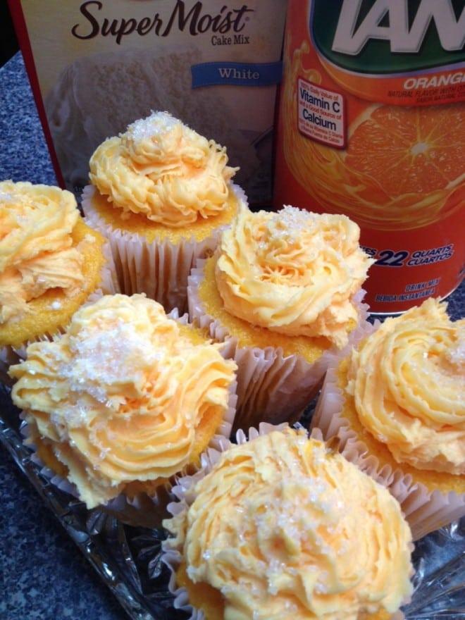 Orange Tang Cupcakes