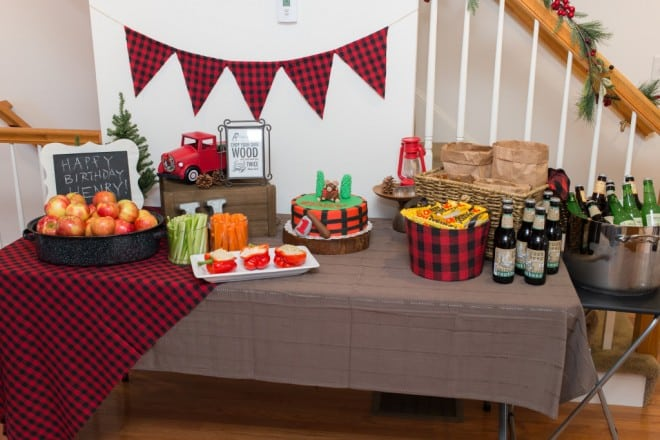Boy's Lumberjack Themed Birthday Party