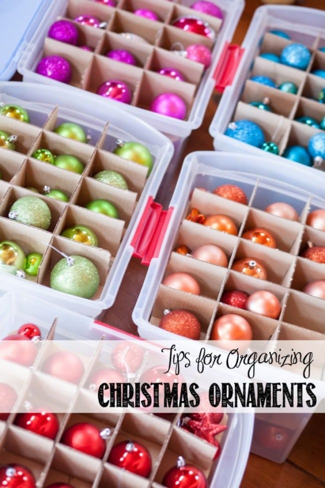 Christmas Tree Ornament Storage