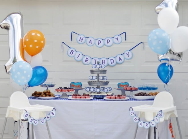 Boys Birthday party Table