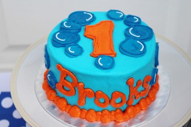 Boys Bubble Themed Birthday Cake