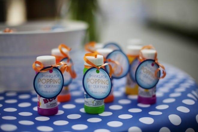 Boys Bubble Themed Birthday Party Favor Ideas