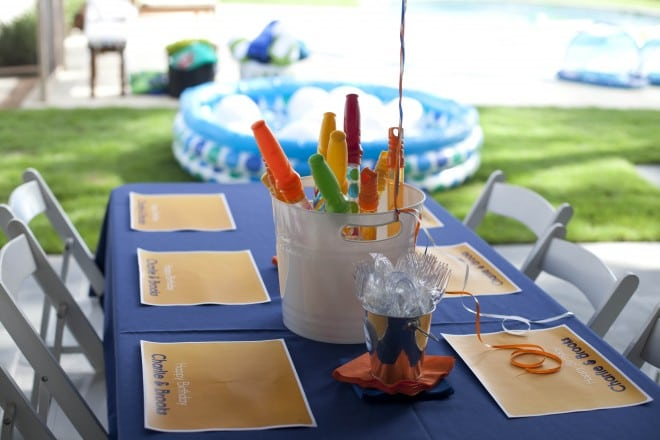 Boys Bubble Themed Birthday Party Kids Table Ideas