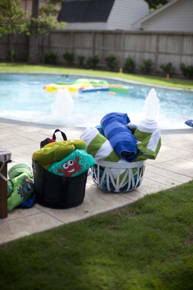 Boys Bubble Themed Birthday Party Pool Idea