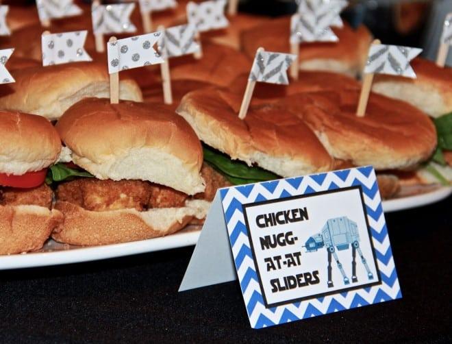 Boys Star Wars Party Food Nugget Sandwich