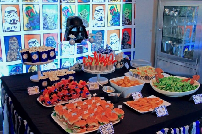 Boys Star Wars Party Food Table Ideas