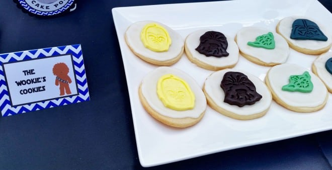 Boys Star Wars Themed Birthday Party Cookie Food Ideas