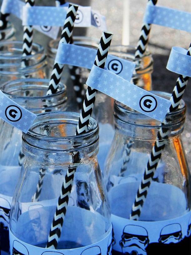 Boys Star Wars Themed Birthday Party Drink Straw Ideas