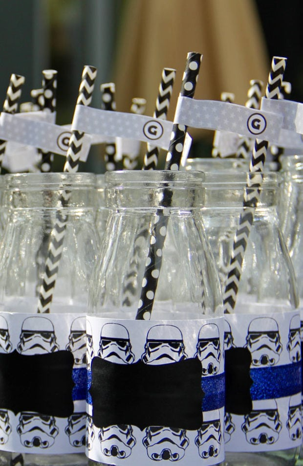 Boys Star Wars Themed Birthday Party Drink bottle ideas