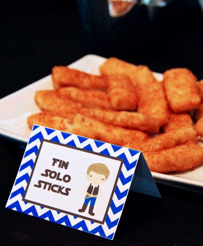 Boys Star Wars Themed Birthday Party Fish Sticks Food
