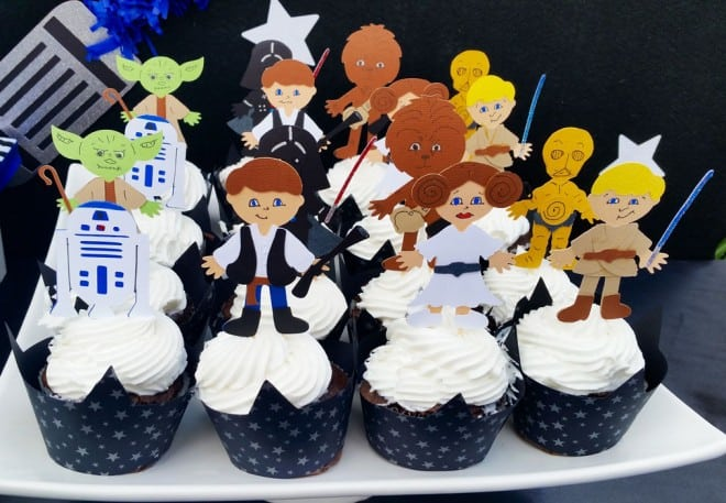 boys star wars themed birthday party food cupcake ideas - Star Wars Decorations