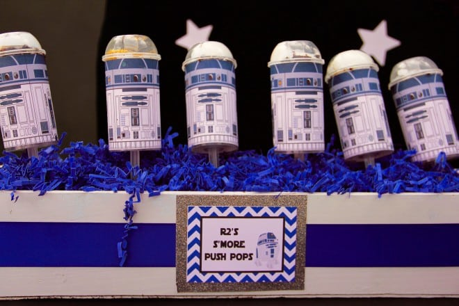 Boys Star Wars Themed Birthday Party Food Push Pops