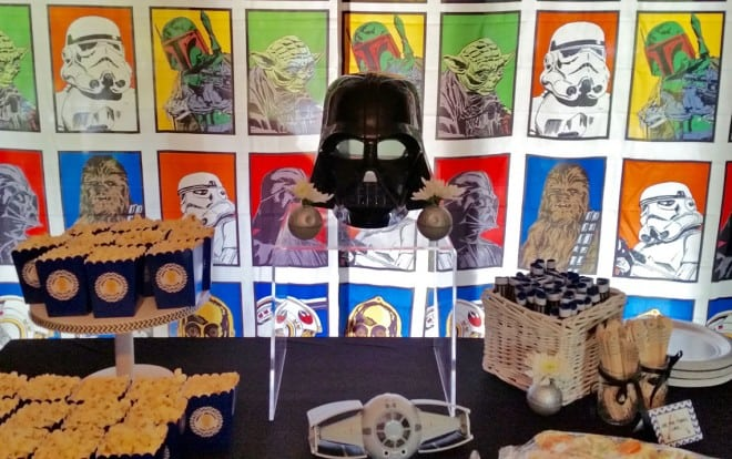 Boys Star Wars Themed Birthday Party Food Table Decorations