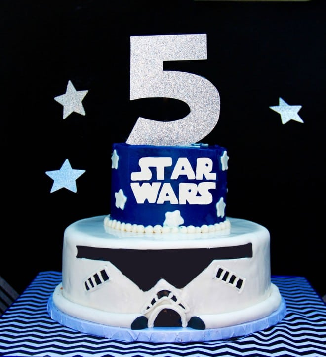 Boys Star Wars Themed Party Food Cake Ideas
