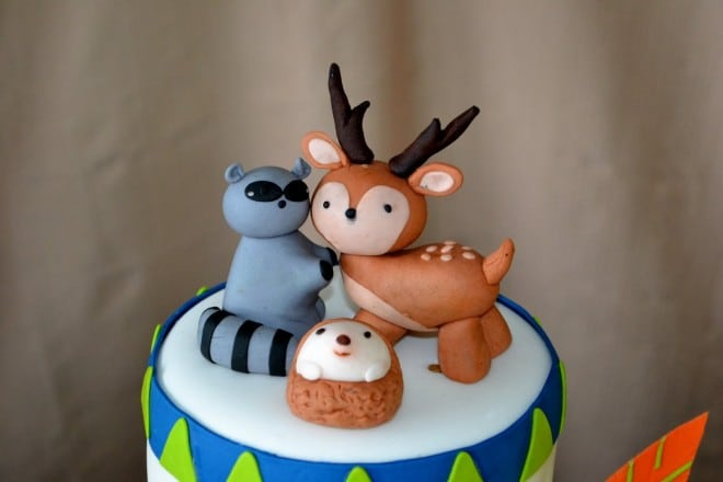 Boys Woodland Camping Birthday Cake Toppe