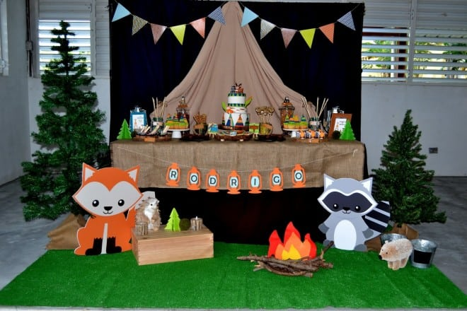 Boys Woodland Camping themed Party