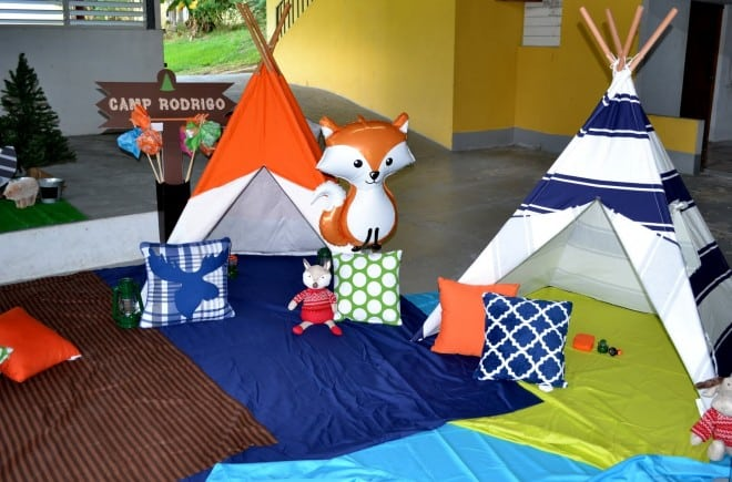 Boys Woodland Party Themed Tents