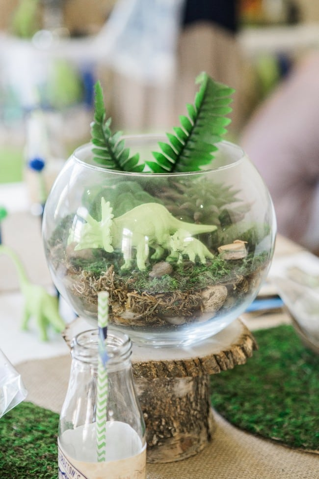 Dinosaur Themed Birthday party centerpiece