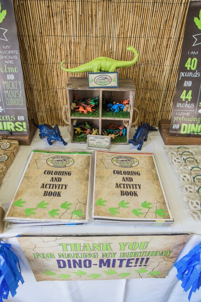 Dinosaur party Favor Table