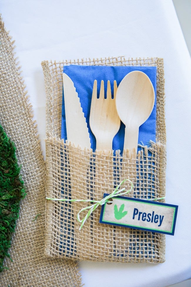 Dinosaur Party place setting
