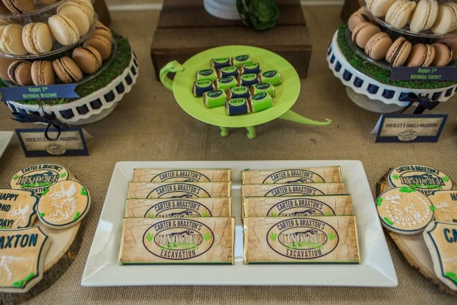 Dinosaur Themed Birthday Party Plate